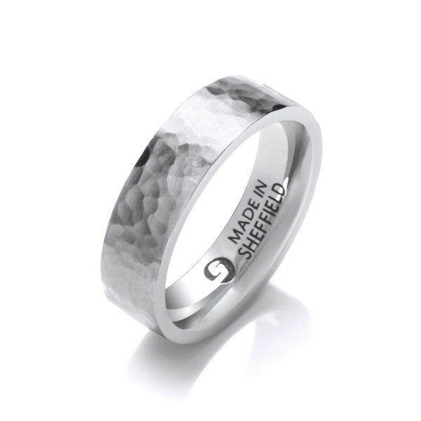 Sheffield steel wedding ring- The Tapton