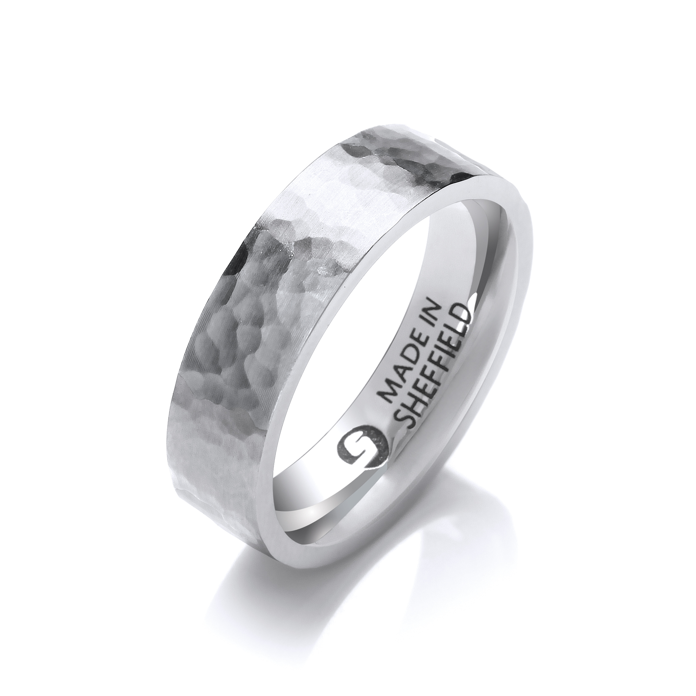 Sheffield steel wedding ring- The Tapton